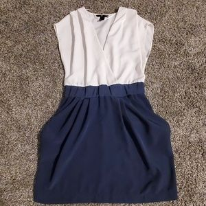 H&M White top with Blue bottom Dress